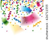 beautiful colorful confetti and ... | Shutterstock .eps vector #626711555