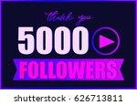 thank you followers card ... | Shutterstock .eps vector #626713811