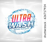 creative laundry detergent... | Shutterstock .eps vector #626717924