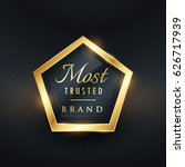 most trusted brand golden label ... | Shutterstock .eps vector #626717939