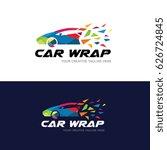 car wrap logo  | Shutterstock .eps vector #626724845