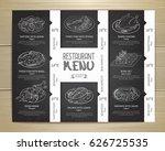 chalk drawing restaurant menu...   Shutterstock .eps vector #626725535