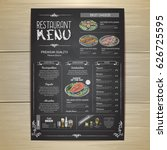 chalk drawing restaurant menu... | Shutterstock .eps vector #626725595