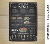 chalk drawing restaurant menu... | Shutterstock .eps vector #626725655