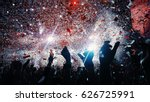shiny rainbow confetti during... | Shutterstock . vector #626725991