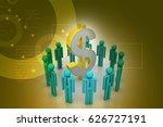 3d illustration of people... | Shutterstock . vector #626727191