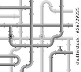 realistic metallic pipe.... | Shutterstock .eps vector #626729225