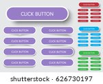 set of rectangular buttons with ... | Shutterstock .eps vector #626730197