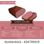 cooked lean beef health... | Shutterstock .eps vector #626730419