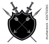 shield with arrows swords and... | Shutterstock .eps vector #626731061
