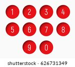 Set Of Numbers From 0 To 9 Wit...