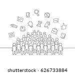 sketch of working little people ...   Shutterstock .eps vector #626733884