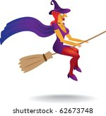 sexy witch with witch hat and... | Shutterstock .eps vector #62673748
