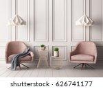 pastel interior in classic... | Shutterstock . vector #626741177