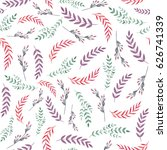 watercolor seamless pattern... | Shutterstock . vector #626741339