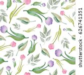 watercolor seamless pattern... | Shutterstock . vector #626741351