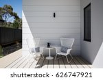 outdoor sitting space on an al... | Shutterstock . vector #626747921