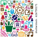 colorful scholastics icon... | Shutterstock .eps vector #626750171