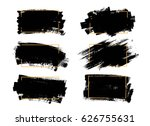 vector black paint  ink brush... | Shutterstock .eps vector #626755631