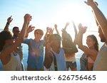 happy young dancers having... | Shutterstock . vector #626756465