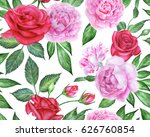 seamless floral pattern with... | Shutterstock . vector #626760854
