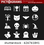 halloween vector icons for user ... | Shutterstock .eps vector #626761841