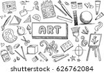 black and white fine art... | Shutterstock .eps vector #626762084