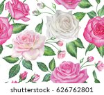 seamless floral pattern with... | Shutterstock . vector #626762801