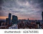 dark purple clouds casting over ... | Shutterstock . vector #626765381