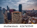 tall buildings scattered in a... | Shutterstock . vector #626765549