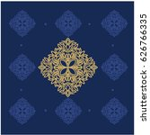 gold ornaments in baroque style.... | Shutterstock .eps vector #626766335
