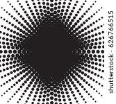 halftone radial pattern... | Shutterstock .eps vector #626766515