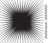 halftone radial pattern... | Shutterstock .eps vector #626766521