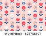 seamless floral pattern | Shutterstock .eps vector #626766977