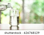 close up pouring purified fresh ... | Shutterstock . vector #626768129