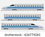 bullet train or passenger... | Shutterstock .eps vector #626774261