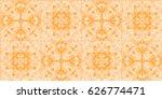 vector seamless pattern in... | Shutterstock .eps vector #626774471