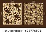 laser cutting set. woodcut... | Shutterstock .eps vector #626776571