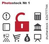 lock icon vector flat design...