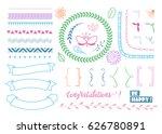 graphic set of different vector ... | Shutterstock .eps vector #626780891