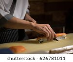 chef japanese cuisine in hotel... | Shutterstock . vector #626781011