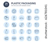 plastic packaging  disposable... | Shutterstock .eps vector #626781041