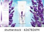 lavender cream ads  natural... | Shutterstock .eps vector #626782694
