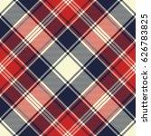check fabric texture diagonal... | Shutterstock .eps vector #626783825