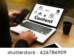 Small photo of content marketing Content Data Blogging Media Publication Information Vision Concept