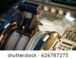 airbus a320 thrust levers on... | Shutterstock . vector #626787275