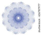 guilloche abstract rosette blue ... | Shutterstock .eps vector #626787977