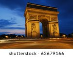 beautifluly lit triumph arch at ... | Shutterstock . vector #62679166