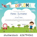 colorful kids summer camp... | Shutterstock .eps vector #626794361