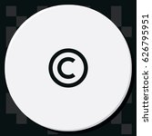 copyright symbol icon. | Shutterstock .eps vector #626795951